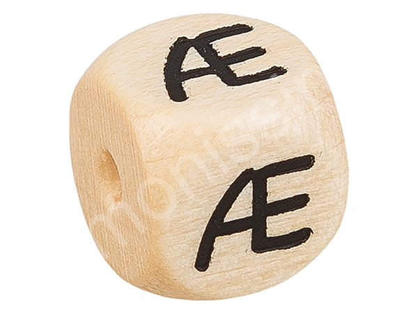 wooden letter beads 10 mms, A-Z, special characters :