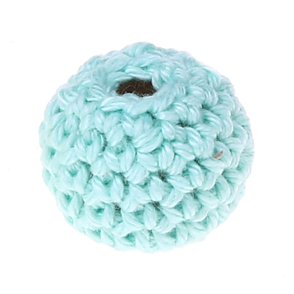 crochet beads 20 mm : mint green