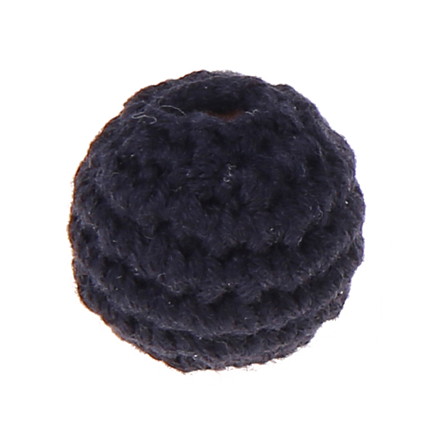 crochet beads 20 mm : black