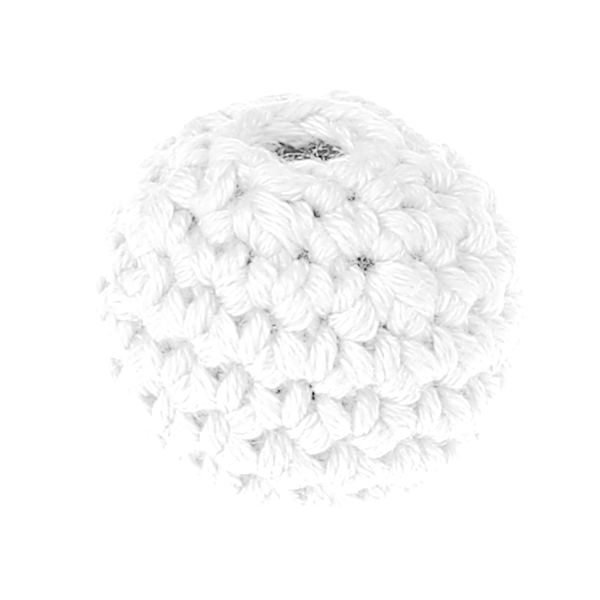 crochet beads 20 mm : white