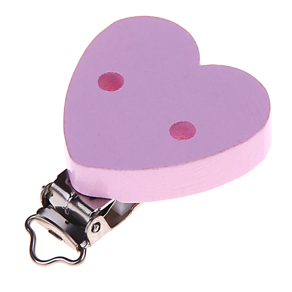 clip heartshaped white : light pink