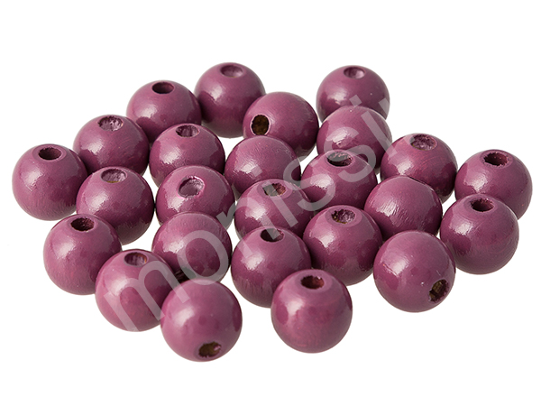 wooden beads 10mm - 25pcs : red violet