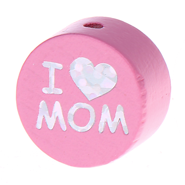 i love mom / dad glittery disc : babypink
