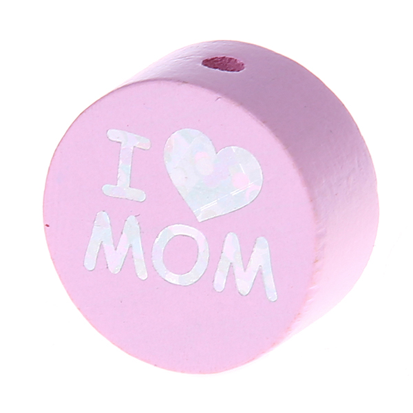 i love mom / dad glittery disc : light pink