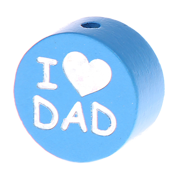 i love mom / dad glittery disc : light blue