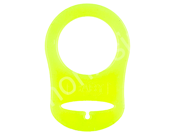 silicone ring, adapter for pacifier : yellow