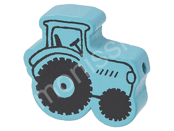 motif bead tractor : light turqouise
