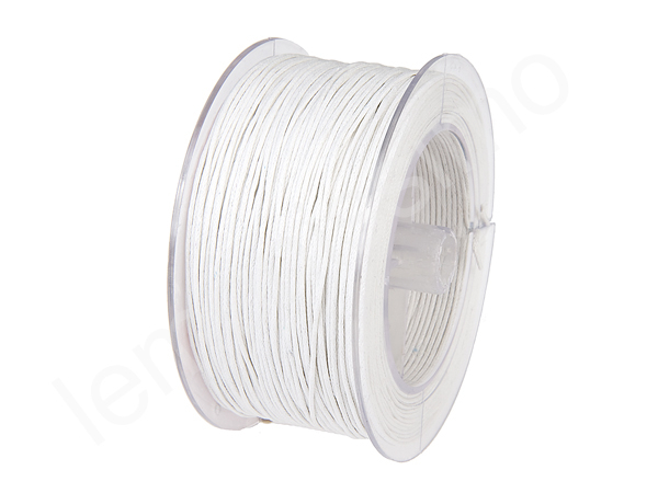 5m Cottonstring ø 1mm - : white
