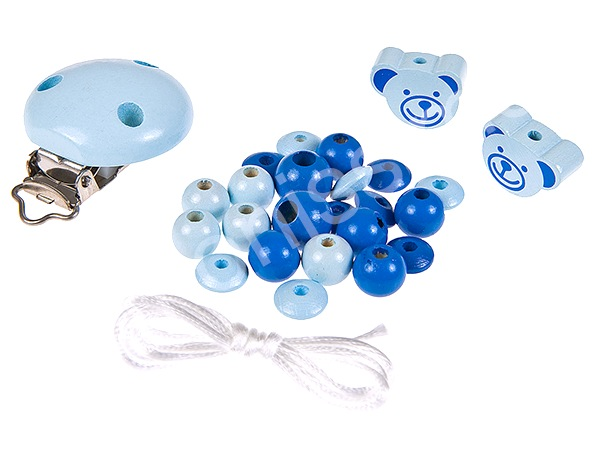 Set for dummy holder minibears : babyblue