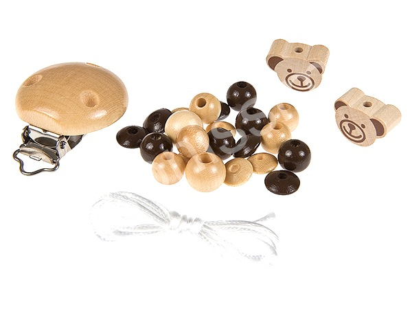 Set for dummy holder minibears : natur