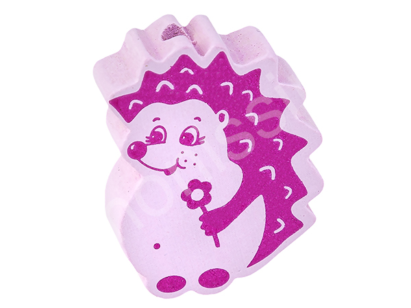 motif bead hedgehog : darkpink