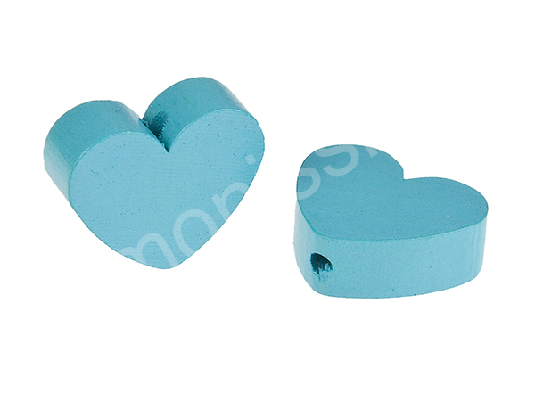 motif bead mini heart : light turqouise