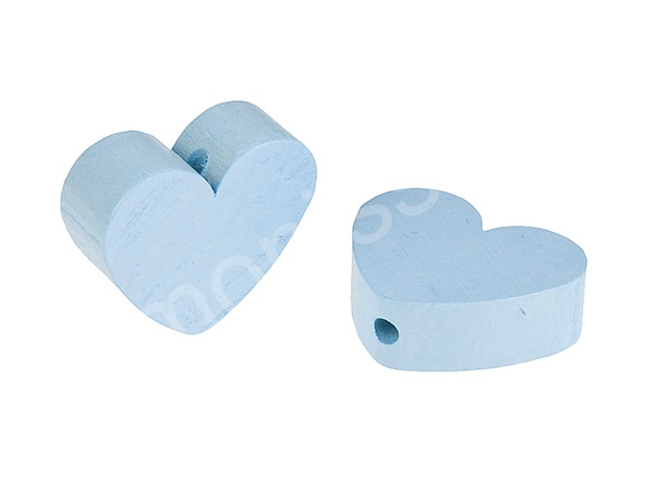 motif bead mini heart : babyblue