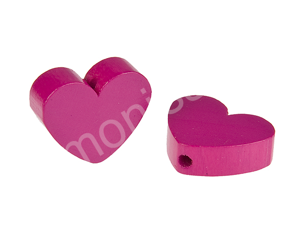 motif bead mini heart : darkpink