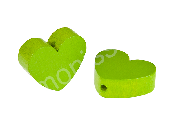 motif bead mini heart : chartreuse