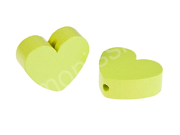 motif bead mini heart : lemon