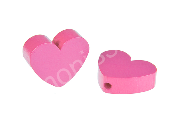 motif bead mini heart : pink