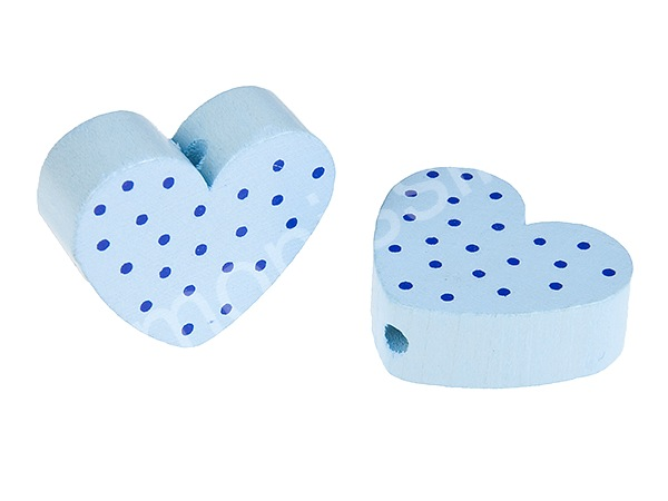 motiv bead mini heart dots : babyblue + blue