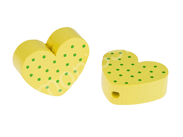 motiv bead mini heart dots : yellow