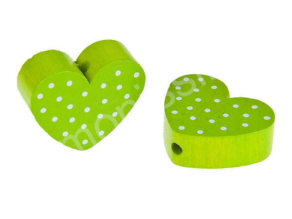 motiv bead mini heart dots : chartreuse