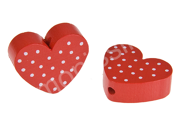 motiv bead mini heart dots : red + white