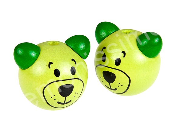 motif bead 3D-bear : lemon