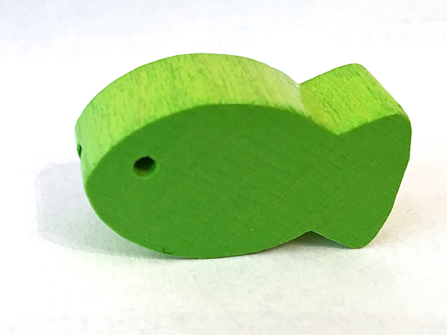 motifbead fish : chartreuse