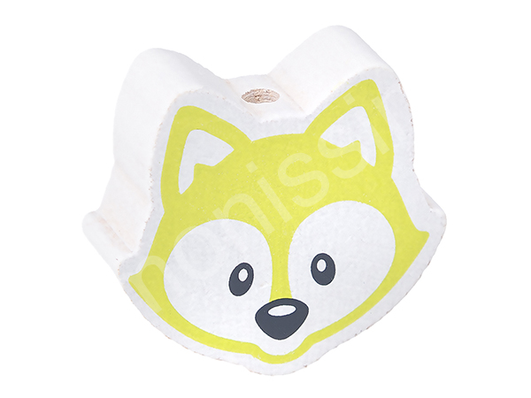 motif bead fox : lemon