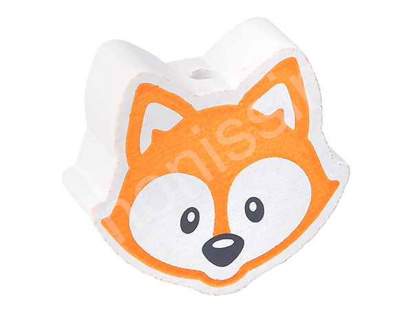 motif bead fox : orange