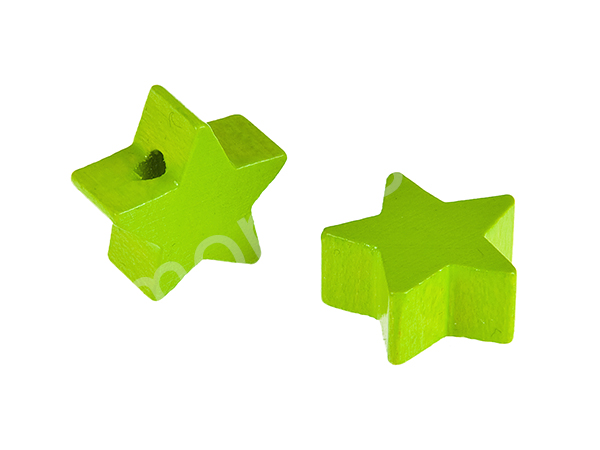 motif bead mini star : chartreuse