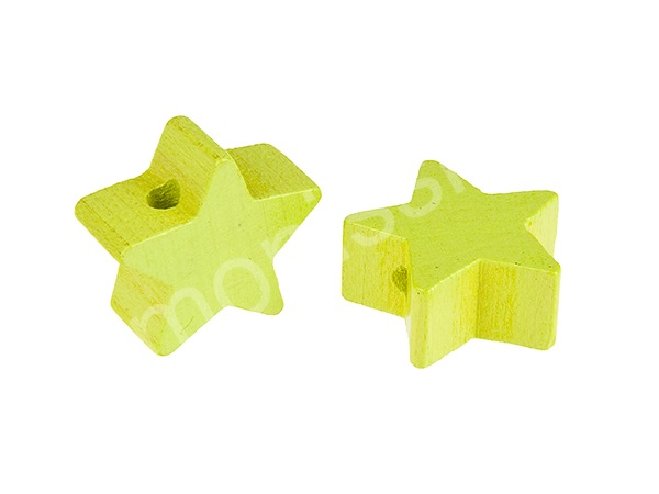 motif bead mini star : lemon