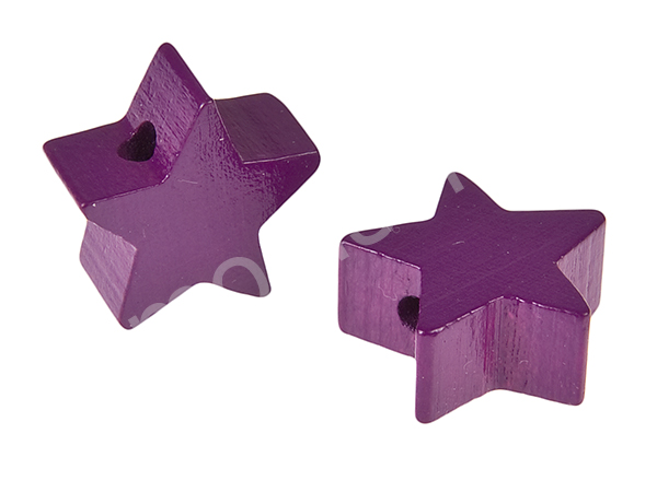 motif bead mini star : purple
