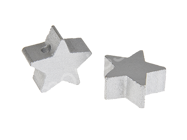 motif bead mini star : silver