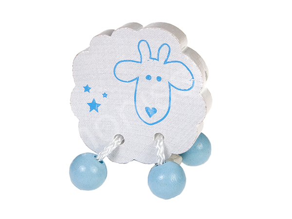 motif bead sheep with dangle feet : blue