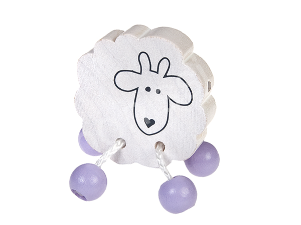 motif bead sheep with dangle feet : lavender