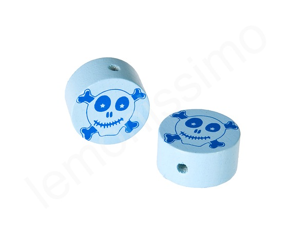 Motif bead disc pirate : babyblue
