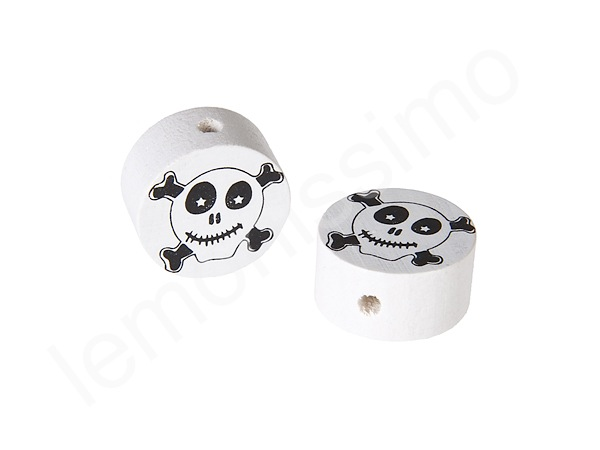 Motif bead disc pirate : white